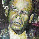 Portrait von Oskar Maria Graf in Acryl