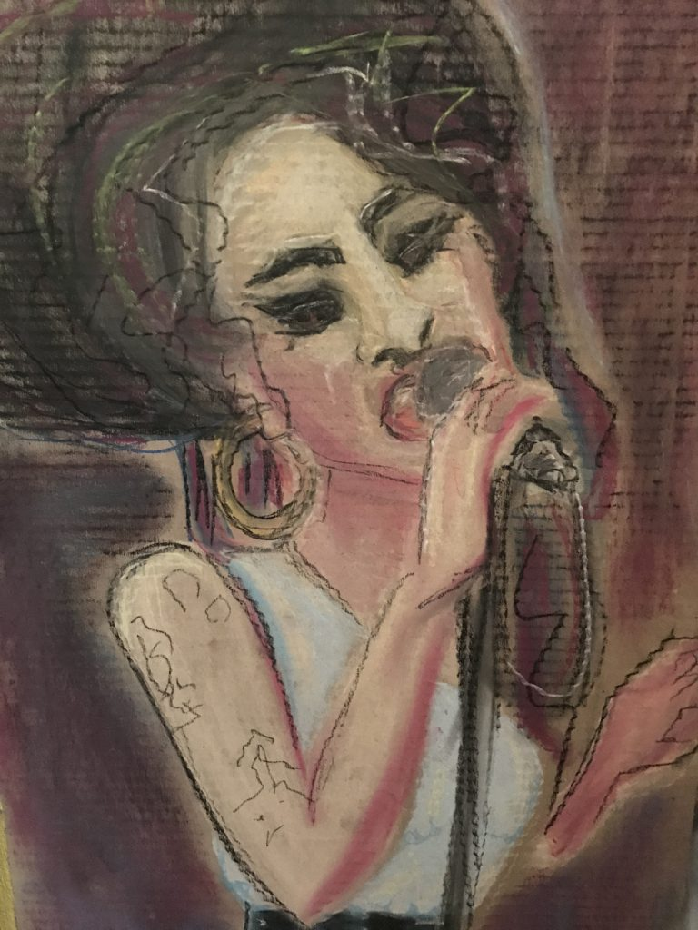 amy winehouse aus pastellkreide by ninschart
